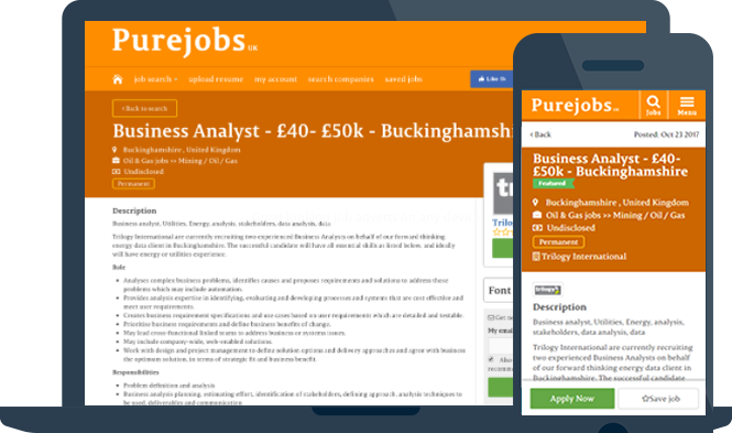Great looking job adverts on any device